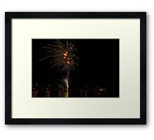Christmas Fireworks by the Lake Framed Print