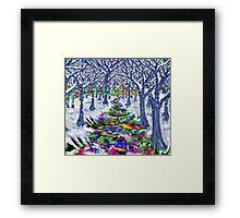 """Christmas Tree Path"" Framed Print"