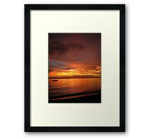 Philippine Sunset 2 Framed Print