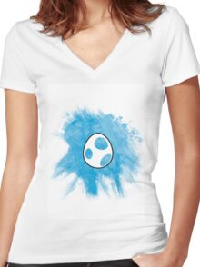 Yoshi Egg Women's Fitted V-Neck T-Shirt