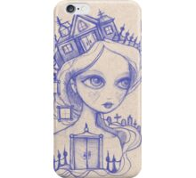 We Carry Our Haunted Houses With Us (purple) iPhone Case/Skin