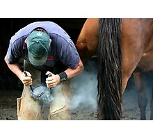 sam the farrier Photographic Print