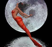 Freedom .. mermaid in moonlight by LoneAngel