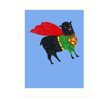 Superhero  Sheep Art Print