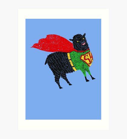 Superhero  Sheep Art Print