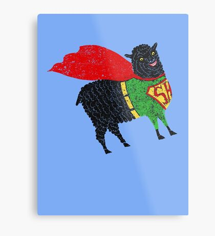 Superhero  Sheep Metal Print