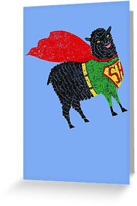 Superhero  Sheep by SusanSanford