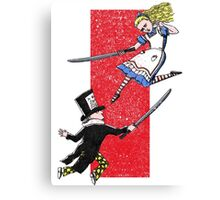 Alice vs. The Mad Hatter Canvas Print