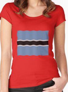 Botswana flag Women's Fitted Scoop T-Shirt