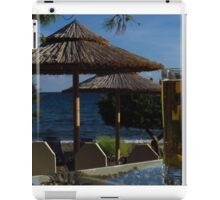 Beach Umbrellas & Mythos Beer iPad Case/Skin