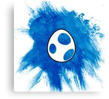 Blue Yoshi Egg Canvas Print