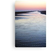 Tide Going Out... Canvas Print