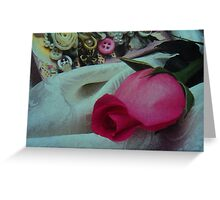 rest upon my sweven... Greeting Card
