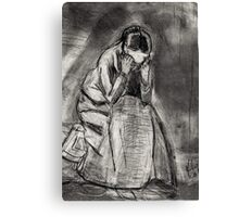 Weeping Woman(after Van Gogh) Canvas Print