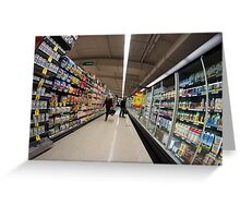 The loneliness of the supermarket Greeting Card