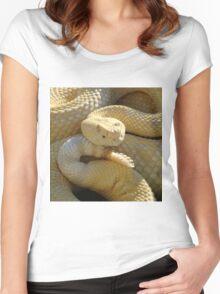 Albino Western Diamondback Rattlesnake - USA Women's Fitted Scoop T-Shirt