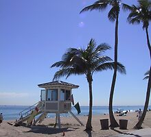 Lifeguard Station  at Fort Lauderdale Beach by aura2000