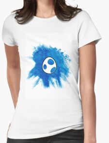 Blue Yoshi Egg Womens Fitted T-Shirt