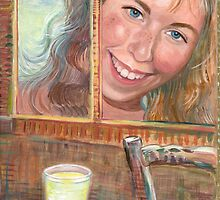 A Cup of Love (Acrylic Painting) by Elaine Bawden
