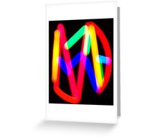 Neon Lights on Broadway Greeting Card