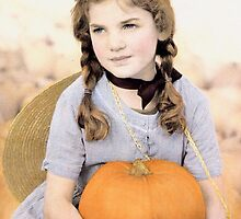 Girl with Pumpkin by Christine Anna Wilson