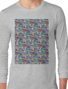 silver holographic Long Sleeve T-Shirt