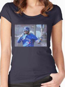 Kevin Pillar  Toronto Blue Jay Women's Fitted Scoop T-Shirt