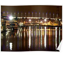 Melbourne Docklands at Night 6564 Poster
