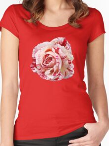 Peppermint Rose ~ Sweet and Spicy  Women's Fitted Scoop T-Shirt