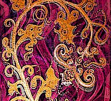 Thai Patterns an acrylic painting by James Lewis Hamilton