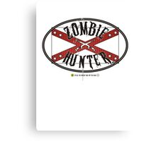 Zombie Hunter flag Canvas Print