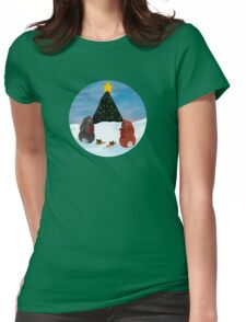 Christmas Bunnies Tee Womens Fitted T-Shirt