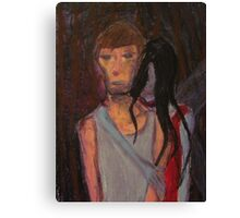 Falling Past Gray(red lady occurrence) Canvas Print