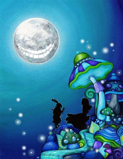 Alice in Wonderland and White Rabbit by Annya Kai