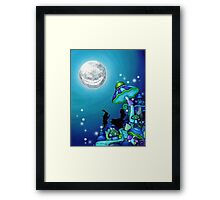 Alice in Wonderland and White Rabbit Framed Print