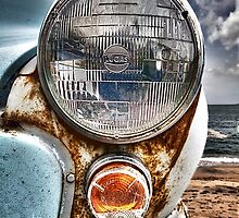 Vintage Morris Minor in Cornwall by Laura Davey