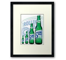 Rolling Rocks in a Row: COLOR Framed Print