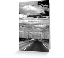 Power Lines to the End of the Road Greeting Card
