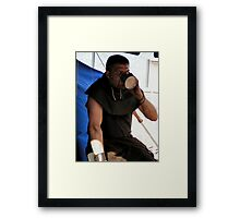 Caught in action Framed Print