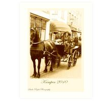 Postcard vintage horse carriage event Kampen 2010 Art Print