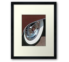 White Wall tyre glamour  Framed Print