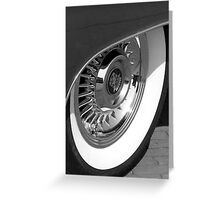 Black & White wall tyre Greeting Card