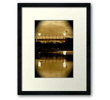 The mighty MCG Framed Print