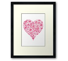 Pink Flower Heart Framed Print