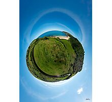 Kinnagoe Bay (as a floating green planet) Photographic Print