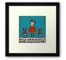 Frida and Cats Framed Print