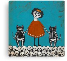 Frida and Cats Canvas Print