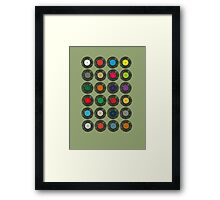 United Colours Of Vinyl Framed Print