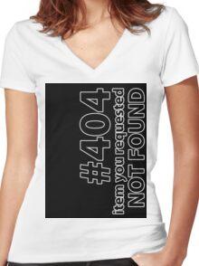 404 Boxxed Women's Fitted V-Neck T-Shirt