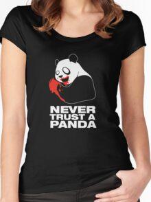 Never Trust A Panda Women's Fitted Scoop T-Shirt